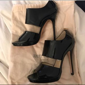 BRAND NEW Jimmy Choo black patent leather heels